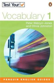 Cover of: Test Your Vocabulary 1 Revised Edition (Test Your Vocabulary) | WATCYN-JONES & JOHNSTON
