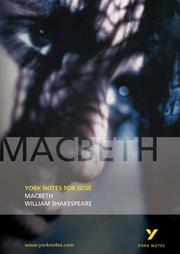 "Cover of: York Notes on ""Macbeth"" by William Shakespeare 
