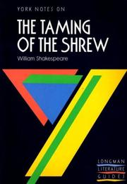 "Cover of: William Shakespeare, ""Taming of the Shrew"" 