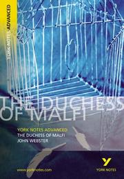 "Cover of: The ""Duchess of Malfi"" 
