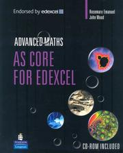 Cover of: AS Core Maths for Edexcel by Rosemary Emanuel