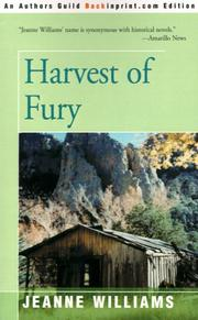 Cover of: Harvest of Fury | Jeanne Williams