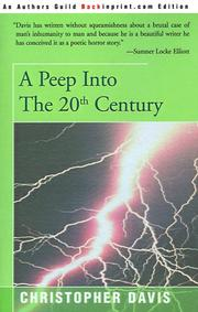 Cover of: A Peep into the 20th Century | Christopher Davis