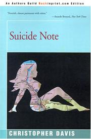 Cover of: Suicide Note by Christopher Davis