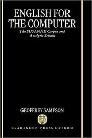 Cover of: English for the computer | Geoffrey Sampson