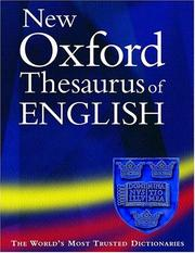 Cover of: New Oxford Thesaurus of English (Thesaurus) | Maurice Waite