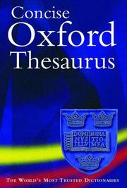 Cover of: Concise Oxford Thesaurus | Maurice Waite