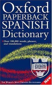 Cover of: Oxford Paperback Spanish Dictionary by Christine Lea