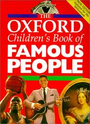 Cover of: Oxford Children's Book of Famous People | Ed Oxford
