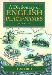 Cover of: A dictionary of English place names | A. D. Mills