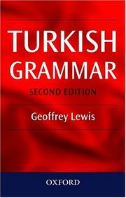 Cover of: Turkish Grammar | Geoffrey Lewis