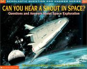 Cover of: Can You Hear a Shout in Space by Melvin Berger