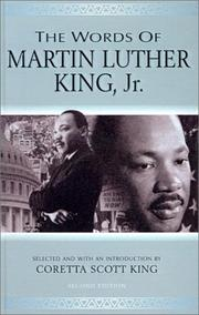 Cover of: Words of Martin Luther King, Jr (Newmarket Words of) by Coretta Scott King