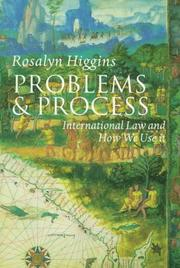 Cover of: Problems and process | Rosalyn Higgins