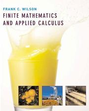 Cover of: Finite Mathematics and Applied Calculus | Frank C. Wilson