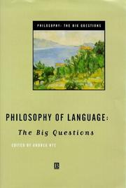 Cover of: Philosophy of Language | Andrea Nye