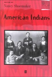 Cover of: American Indians by Nancy Shoemaker