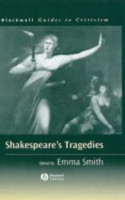 Cover of: Shakespeare's Tragedies | Emma Smith