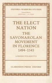 Cover of: The elect nation by Lorenzo Polizzotto