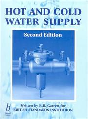 Cover of: Hot and cold water supply | R. H. Garrett
