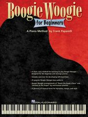 Cover of: Boogie Woogie for Beginners | Frank Paparelli