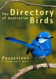 Cover of: Directory of Australian Birds | Richard Schodde