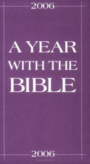 Cover of: A Year With The Bible 2006 | Walt Sutton