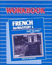 Cover of: French for Mastery 1 Workbook | M. L. Dietmeier