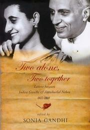 Cover of: Two Alone, Two Together by Sonia Gandhi