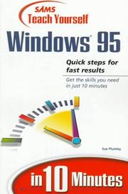 Cover of: Sams teach yourself Windows 95 in 10 minutes | Sue Plumley