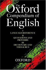 Cover of: The Oxford Compendium of English | Jonathan Law