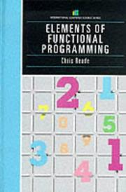 Cover of: Elements of functional programming | Chris Reade