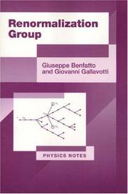 Cover of: Renormalization group | Giuseppe Benfatto