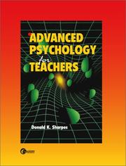 Cover of: Advanced Psychology for Teachers by Donald K. Sharpes