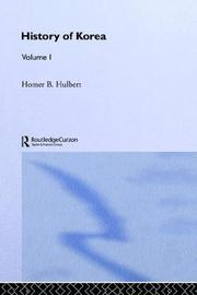 Cover of: The History of Korea by H. B. Hulbert