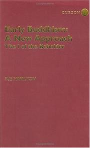 Cover of: Early Buddhism - A New Approach | Sue Hamilton