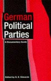 Cover of: German political parties | G. E. Edwards