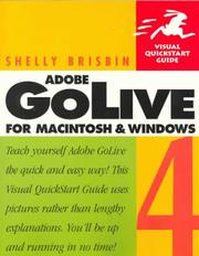Cover of: Adobe GoLive 4 for Macintosh & Windows | Shelly Brisbin
