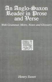 Cover of: An Anglo-Saxon reader in prose and verse | Sweet, Henry