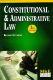 Cover of: Constitutional and Administrative Law (M & E Handbook) | I.N. Stevens