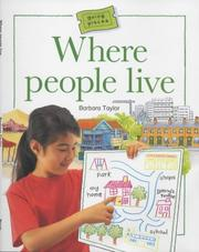 Cover of: Where People Live (Going Places) by Barbara Taylor