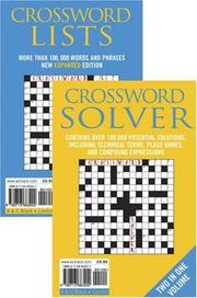 Cover of: Crossword Lists & Crossword Solver | Anne Stibbs