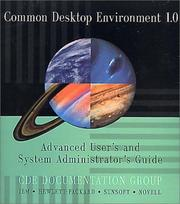 Cover of: Common Desktop Environment 1.0 | Cde Documentation Group