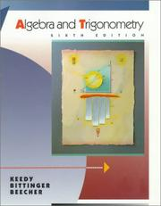 Cover of: Algebra and trigonometry | Mervin Laverne Keedy