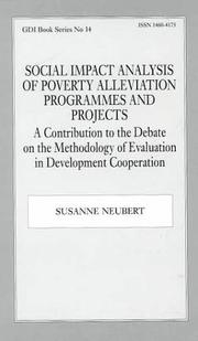 Cover of: Social Impact Analysis of Poverty Alleviation Programmes and Projects | Susanne Neubert