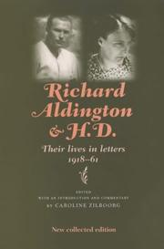 Cover of: Richard Aldington and H.D | Caroline Zilboorg