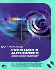Cover of: FreeHand 9 authorized / [Tony Roame, author and instructional designer] | Tony Roame