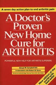 Cover of: A Doctor's Proven New Home Cure for Arthritis | delete