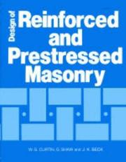 Cover of: Design of reinforced and prestressed masonry | W. G. Curtin
