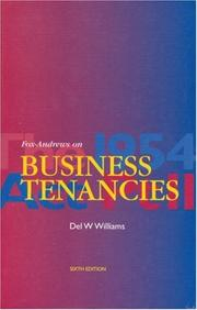 Cover of: Fox-Andrews on Business Tenancies | Del W Williams